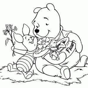 【ディズニー】くまのプーさん (winnie the pooh)✦ぬりえ【無料テンプレート】