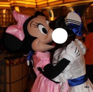 予約万歳★濃厚キスを…ミニーとアンバサダーホテルの仮装★