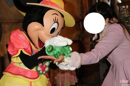 ミッキーごめんね…手直しが入った(笑)ミニーとお花いっぱい☆